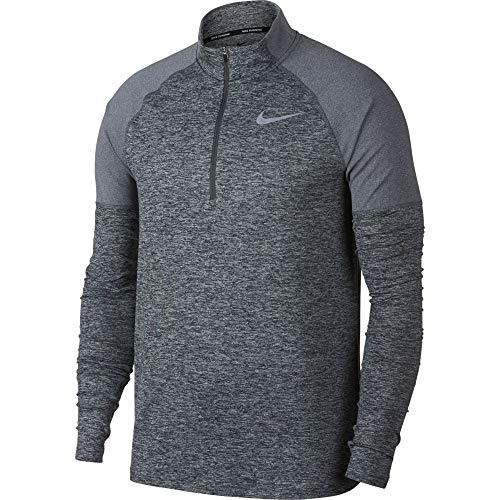 Nike Men's 2.0 Element 1/2 Zip Running Top (Dark Grey/Heather, Small) by Nike (Image #3)