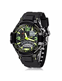 Morrivoe Mens 54.04mm Dial Date Week Display Stopwatch Sports Digital Wristwatches with Silicone Strap