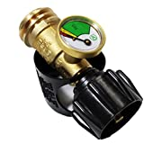 propane gas gauge meter - Gas One Propane Tank Gauge Level Indicator Leak Detector Gas Pressure Meter Universal for RV Camper, Cylinder, BBQ Gas Grill, Heater and More Appliances-Type 1 Connection