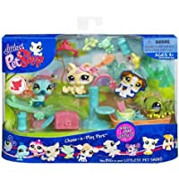 Littlest Pet Shop Themed Playpack - CHASE-N-PLAY PARK with 3 EXCLUSIVE Pets