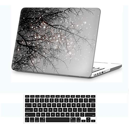 Holilife MacBook Pro 13 Retina Case,Ultra Slim Plastic Frosted Matte Painted Hard Shell Soft-Touch Snap On Cover Compatible MacBook Pro 13 inch Retina (Model: A1425 / A1502),Gray - Tree 13 Inch