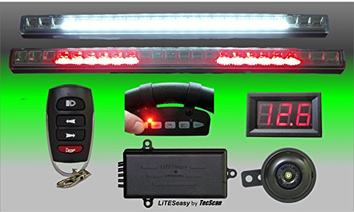 Adjustable Remote Horn - TecScan LiTESeasy Deluxe Golf Cart Remote Control Lights & All Signals Kit