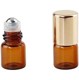 086564f88b05 Amazon.com : NEW 15 Pcs Small Mini Amber Glass Essential Oil Roller ...