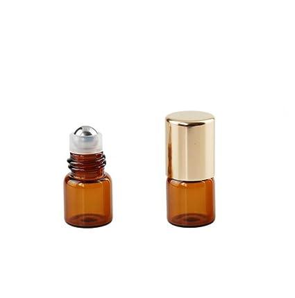 Amazon.com: Ámbar vidrio Mini rollo pequeña capacidad 15 pcs ...