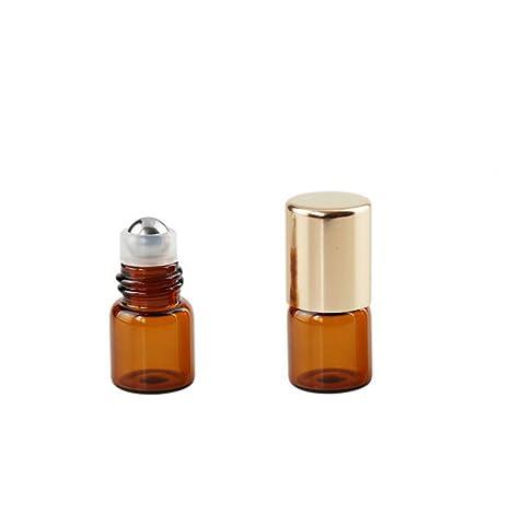 e0282a8a4064 Amber Glass Mini Small Capacity 15 Pcs Empty Diy Roll on Bottles ...