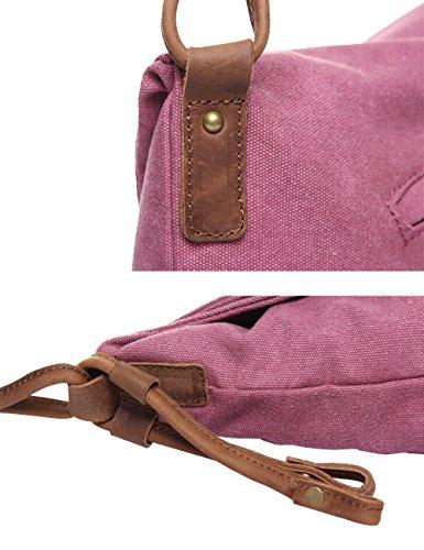 Herrenchwear Herren Segeltuch Umhängetasche Draussen Tasche Blau Rot 6631