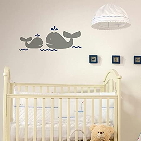 whales nursery wall decals nautical wall stickers for kids art vinyl