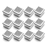 Tosnail 7 oz. Clear Top Square Empty Tin - Great for Store Spices, Candies, Tea or Gift Giving, Pack of 12