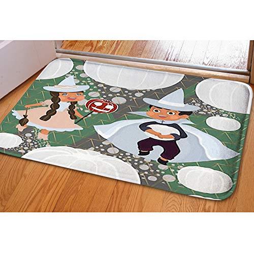 Door Mat Indoor Area Rugs Living Room Carpets Home Decor Rug Bedroom Floor Mats,Cute boy Girl Halloween -