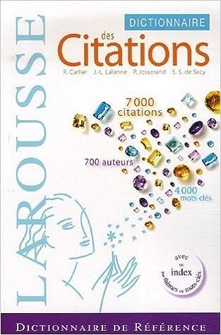 Lire Dictionnaire des citations françaises pdf ebook