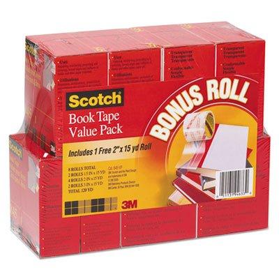 3m Scotch 845 Book Tape - Book Repair Tape Multi-Pack, 1 1/2