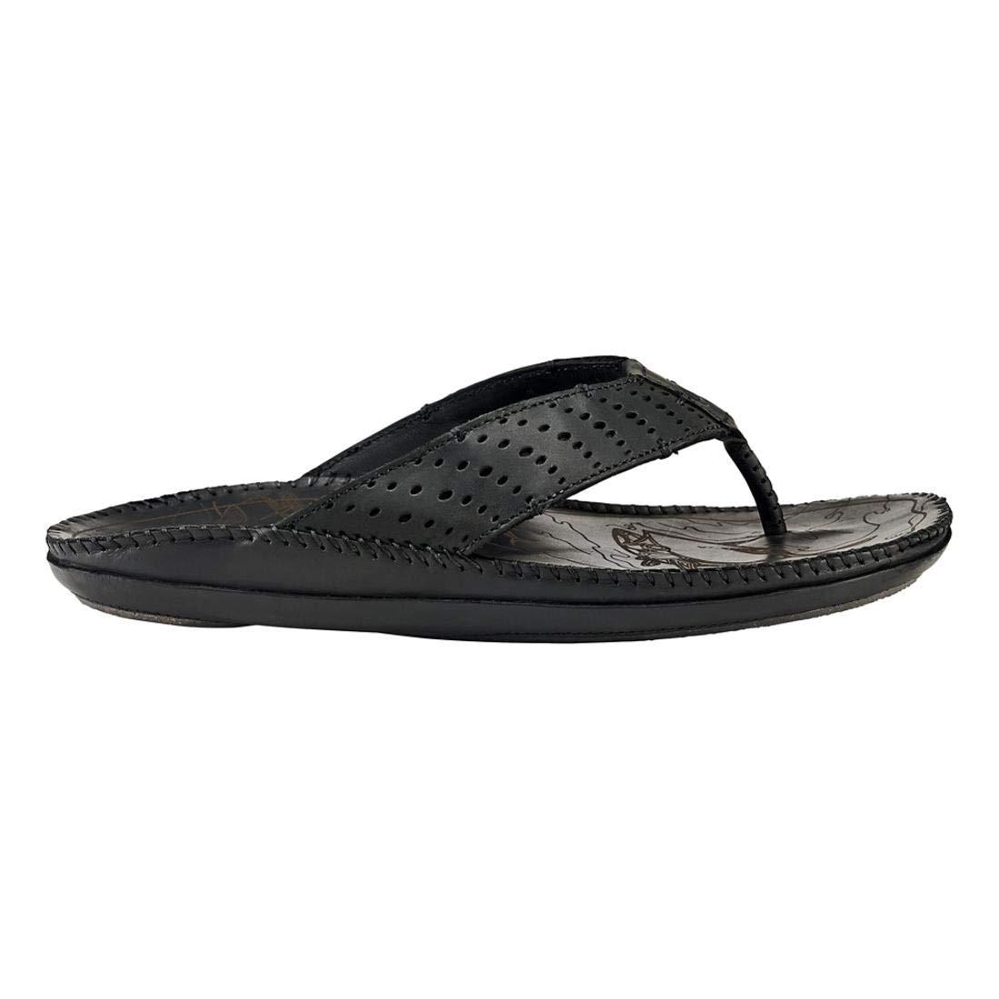 Black Black OluKai Men's Hoe Sandals