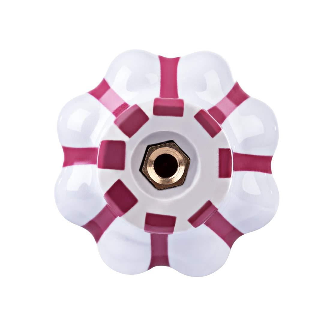 ZUJI 10PCs Boutons de Portes et Placard Poign/ées de Meuble Boutons Armoire en C/éramique pour Chambre denfant
