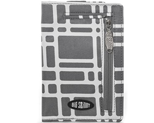 Big Skinny Women's Plus Size myPhone Bi-Fold Slim Wallet, Holds Up to 20 Cards, Graphite Cobble