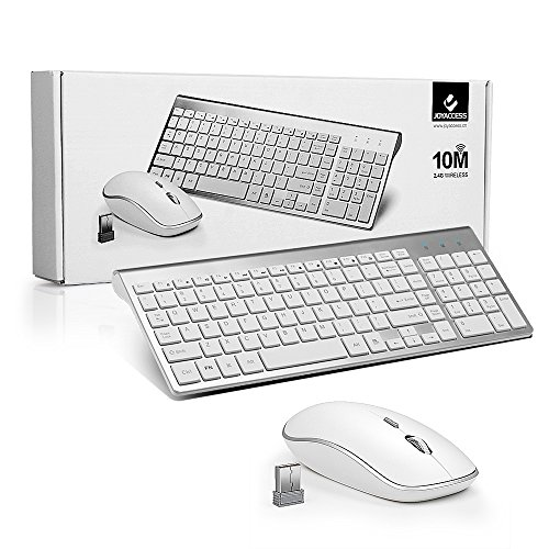 joyaccess wireless keyboard and mouse combo full size whisper quiet compact keyboard mouse. Black Bedroom Furniture Sets. Home Design Ideas