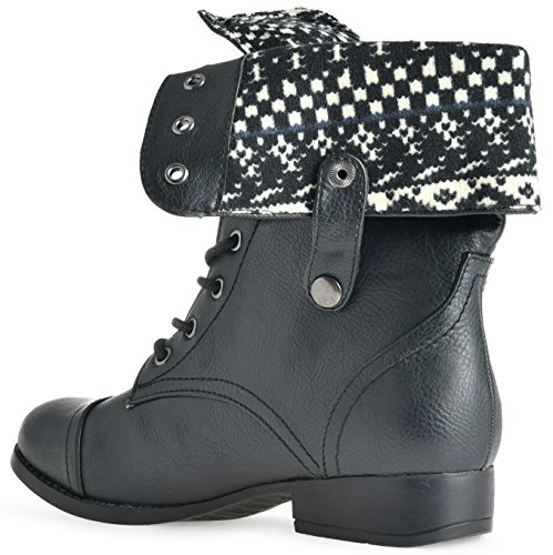 Sullys Womens Sharper-1 Combat Boot Black New