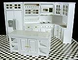 Dollhouse Miniature 1:12 Scale 8 Pc White Kitchen SET #T5425