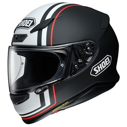 (Shoei RF-1200 Helmet - Recounter (MEDIUM) (MATTE BLACK/WHITE))