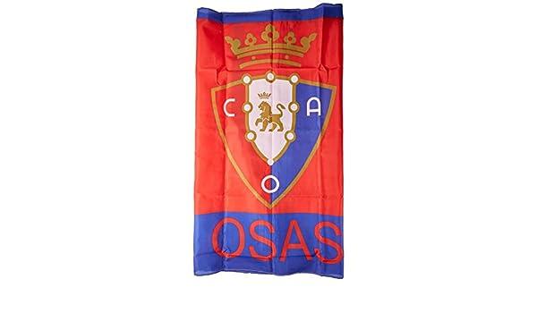 Club Atlético Osasuna Banosa Bandera, Negro/Rojo, 150 x 100 cm ...