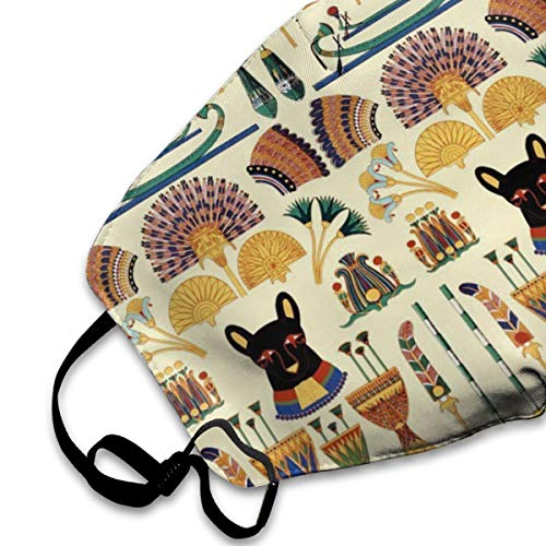 SGHGSAxbh Black Cats Goddesses Bastet Ancient Egypt Face Mask Dust Mask Anti Pollution Face Mask Washable Cotton Mouth Mask Men and Women for All Ages