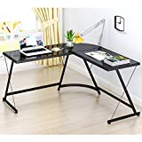 LeCrozz L Shaped Home Office Corner Desk (Small Image)