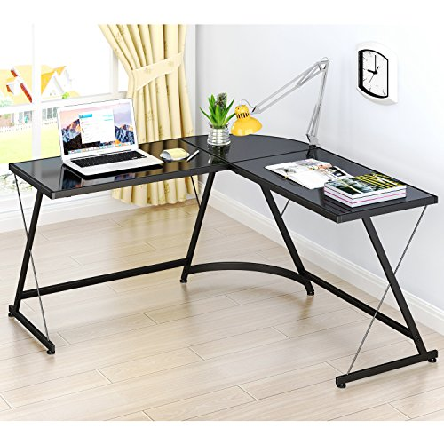 Corner L-shaped Office Desk (LeCrozz L-Shaped Home Office Corner Desk)