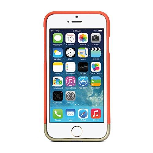 iPhone 6S Coque, GMYLE Hybrid Case Slide pour iPhone 6S - Italian Rose & Métallisé Champagner Or Hybrid TPU protection rigide Shell Retour Étui