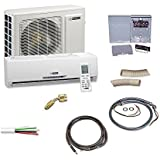 Blueridge 20 SEER Single Zone 12,000 BTU Ductless Mini Split Heat Pump with Complete Pro Installation KIT