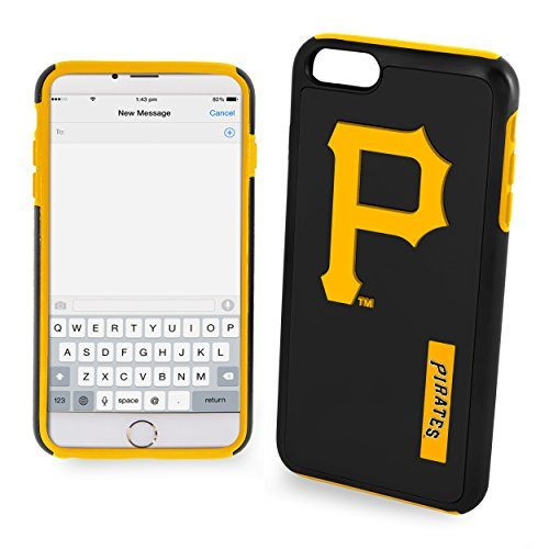 (Pittsburgh Pirates Impact Dual Hybrid iPhone 6 Plus Cover - TPU (2 Piece Case))
