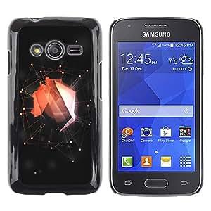 TECHCASE**Cubierta de la caja de protección la piel dura para el ** Samsung Galaxy Ace 4 G313 SM-G313F ** Abstract Red Web