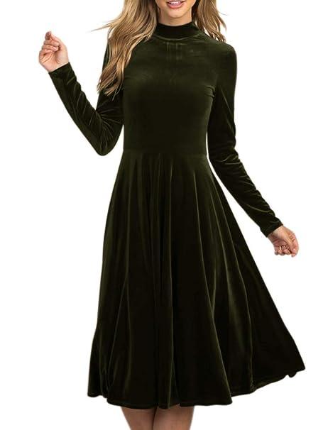 Amazon.com: LAICIGO Vestido de terciopelo retro para mujer ...