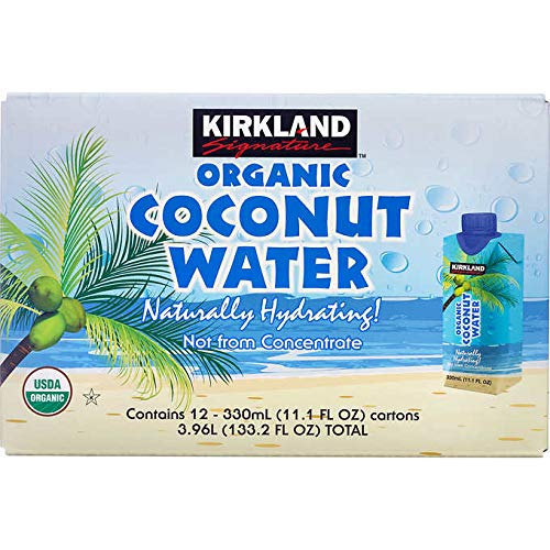 Kirkland Signature Organic Coconut Water Beverage Cartons: 12-Count (11.1 fl oz.)