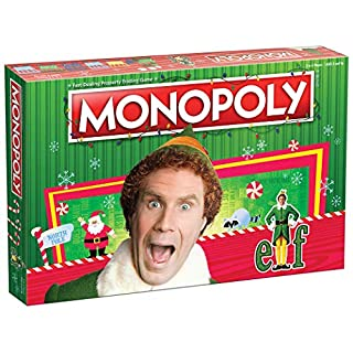 Monopoly Elf | Based on Christmas Comedy Film Elf | Collectible Monopoly Game Featuring Familiar Locations and Iconic Moments | Officially Licensed Monopoly