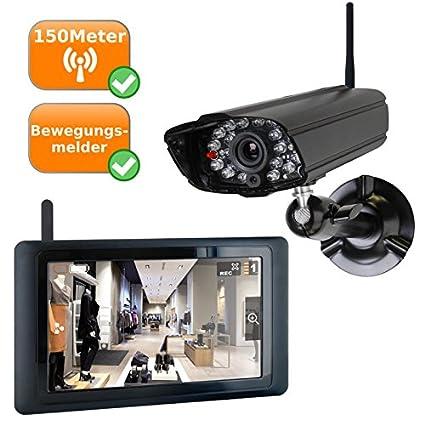 Alta calidad Vigilancia – Juego de cámara con monitor en tiempo real – Cámara Digital con