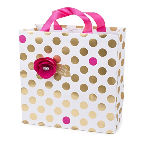- Hallmark Signature Large Gift Bag for Birthday, Bridal Shower, Baby Shower and More (Felt Flower)