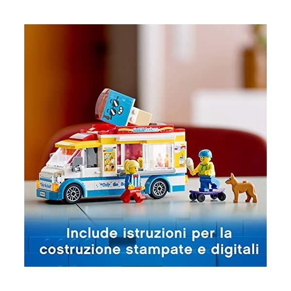 LEGO City Great Vehicles Furgone dei Gelati con 2 Minifigure e 1 Cane, Più 1 Serie di Accessori, Set di Costruzioni per… 6 spesavip