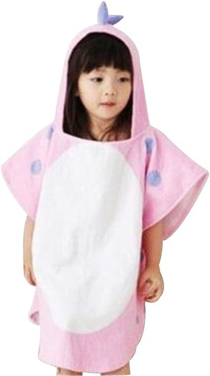 White Asciugamano per Bambini traspirante Telo mare per Bambini Assorbente Perfetto per la Doccia dei Bambini