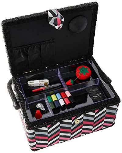 pink and black sewing box - 7