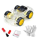 Emgreat 4- for Smart Car of wheel Arduino robot smart car chassis kit with speed encoder