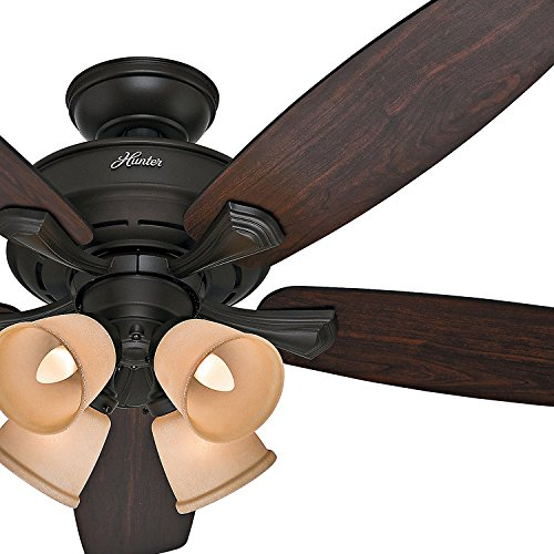 Hunter Fan 52 New Bronze Finish Ceiling And Dark Reversible Blades Certified Refurbished