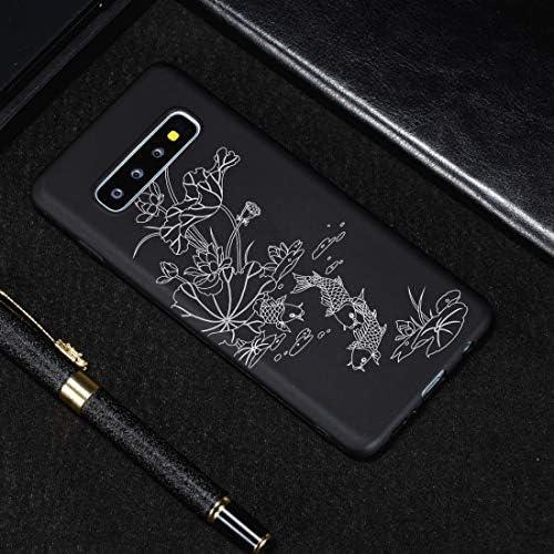 あなたの携帯電話を保護する ギャラクシーS10用ロータス池塗装パターンソフトTPUケース