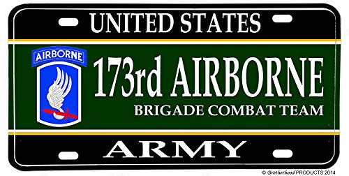 United States Army 173rd Airborne Division Aluminum License Plate (Division 173rd Airborne)