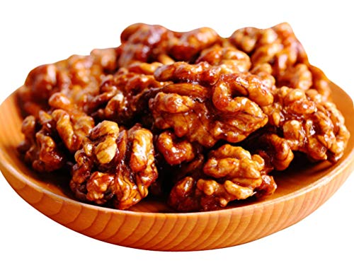 OUZ123 Sweet Roasted Walnuts Amber Sugar Coated Walnut Kernels Hu Po He Tao Ren 琥珀核桃仁 158g/5.57oz