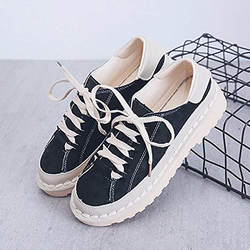 Toe Polyurethane Army Round Beige Block Fall Green Heel Low Sneakers Color Women's Black Comfort ZHZNVX Black PU 4Ezqp