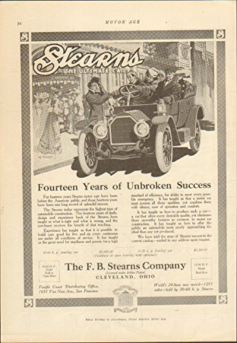 Review 1911 Stearns Touring Cleveland