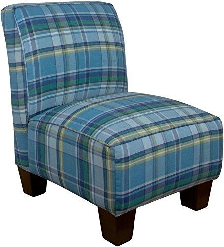 Preppy Blue Plaid - Skyline Kids Armless Chair, Preppy Plaid Blue