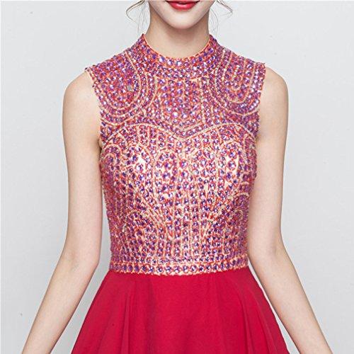 Women`s Neck Fit Dresses Slim Sleeveless cotyledon Scoop Dress Short Formal x1dCCXT