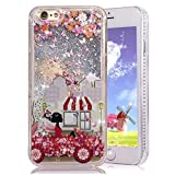 iPhone 6 Plus Case,Crazy Panda 3D Creative Liquid Glitter Design iPhone 6 Plus Liquid Quicksand Bling Adorable flowing Floating Moving Shine Glitter Case iPhone 6 Plus/6S Plus - Shopping Day
