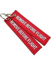 Remove Before Flight Étiquette de Bagage | Trousseau | Haute Qualité | Rouge/Blanc | aviamart®