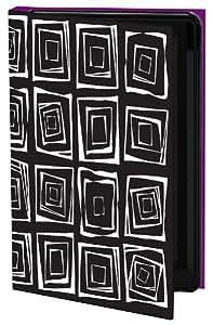 Keka SLP35-LH7-GS4T - Funda rígida para Samsung Galaxy S4, diseño de motivos geométricos, color negro y blanco